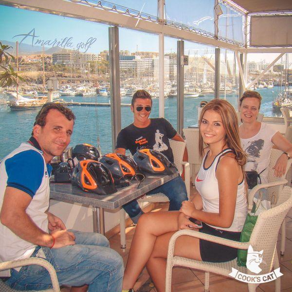Kleine Pause in Arona bei der Segway Tour auf Teneriffa