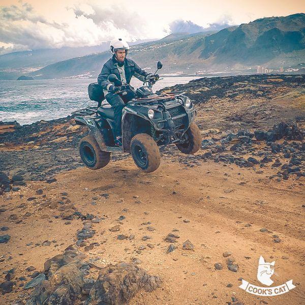 Quads sind gutmütige Begleiter auf einer Tour durch den Nationalpark auf Teneriffa